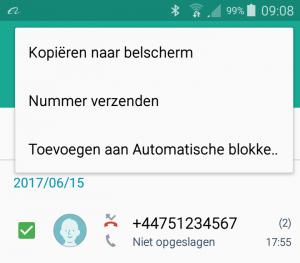 Nummer blokkeren Android