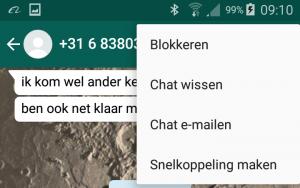 Whatsapp blokkeren